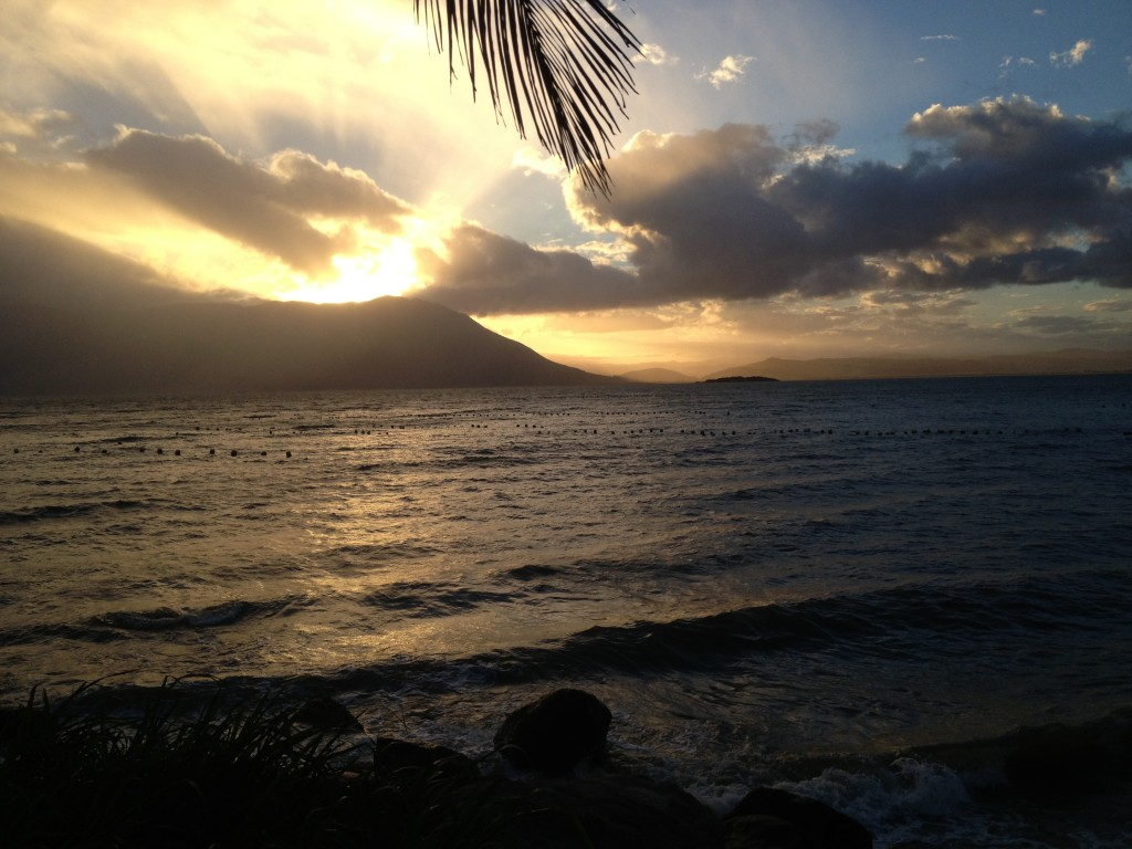 A beautiful sunset on the peninsula Florianopolis