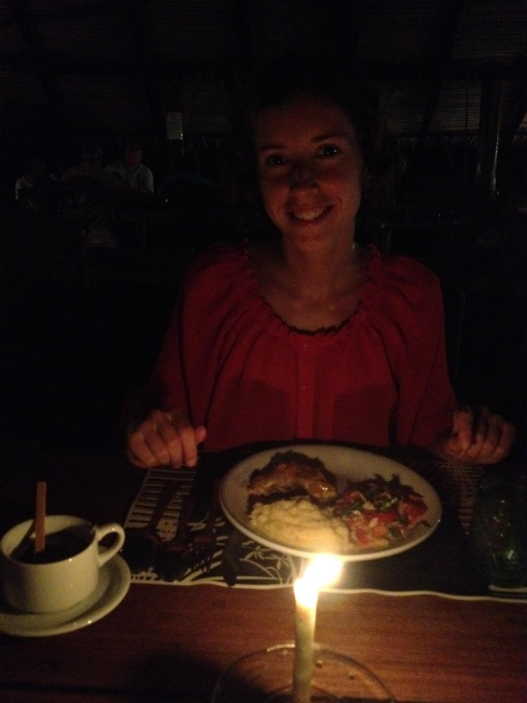 Candlelight dinner ... every night!