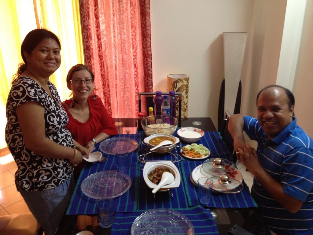 Déjeuner chez Sharbari