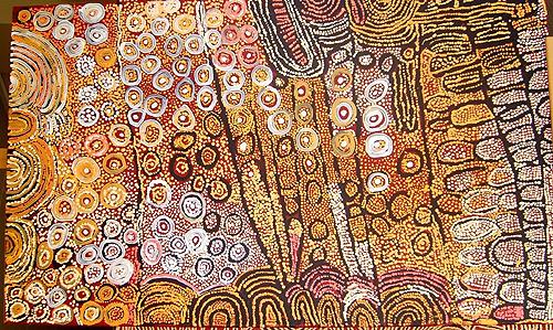 Peinture de Naata Nungarrayi
