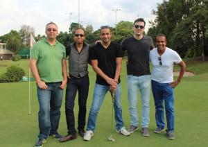 Andrei, Sébastien, Marcelo, Alan, Jorge, golfing